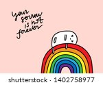 your sorrow is not forever hand ... | Shutterstock .eps vector #1402758977