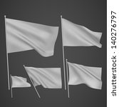 grey vector flags. a set of 5... | Shutterstock .eps vector #140276797