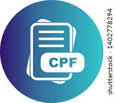 cpf file format icon  for your... | Shutterstock . vector #1402778294