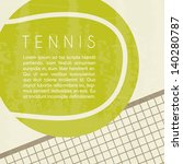 tennis design over white... | Shutterstock .eps vector #140280787