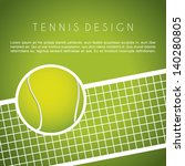 tennis design over green... | Shutterstock .eps vector #140280805