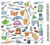 kitchen utensils   cooking... | Shutterstock .eps vector #1402809287
