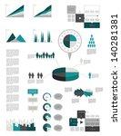 infographic elements.   Shutterstock .eps vector #140281381