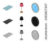 bitmap design of bedroom and...   Shutterstock . vector #1402827347