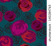 vintage colorful roses seamless ... | Shutterstock .eps vector #140284765