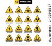 vector set of warning signs ... | Shutterstock .eps vector #1402848917