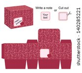 interesting box template with... | Shutterstock .eps vector #140285221