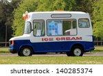 Side View Of Ice Cream Van In...