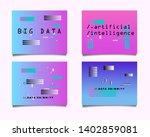 set of minimal posters ... | Shutterstock .eps vector #1402859081