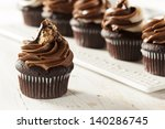 Homemade Chocolate Cupcake Wit...