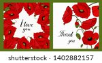 greeting cards with floral... | Shutterstock .eps vector #1402882157