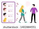 vector illustration with online ... | Shutterstock .eps vector #1402884551