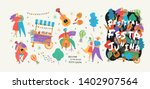 festa junina set of vector... | Shutterstock .eps vector #1402907564