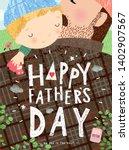 Happy Father\'s Day  Cute Vecto...