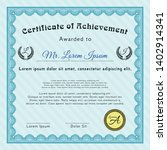 light blue diploma. with... | Shutterstock .eps vector #1402914341