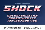 racing display font design ... | Shutterstock .eps vector #1402922477