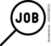 job search icon vector item