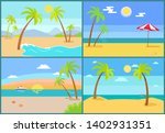 seascape and palms collection... | Shutterstock . vector #1402931351