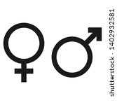 gender male and female vector... | Shutterstock .eps vector #1402932581