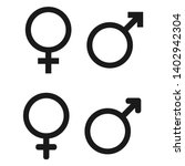 male and female symbol set .... | Shutterstock .eps vector #1402942304