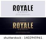 elegant golden colored metal... | Shutterstock .eps vector #1402945961