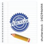 peruvian with pen strokes. blue ...   Shutterstock .eps vector #1402946444