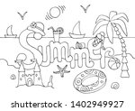 hand drawn coloring page for... | Shutterstock .eps vector #1402949927