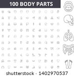 body parts anatomy line icons ... | Shutterstock .eps vector #1402970537