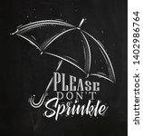 umbrella in retro style...   Shutterstock .eps vector #1402986764