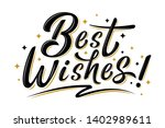 best wishes sign with golden... | Shutterstock .eps vector #1402989611