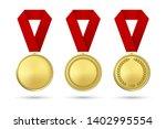 vector 3d realistic gold award... | Shutterstock .eps vector #1402995554