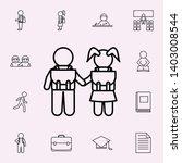 school children go to school...   Shutterstock .eps vector #1403008544