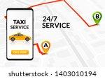 taxi service app design. mobile ... | Shutterstock .eps vector #1403010194