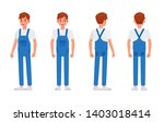 cleaning staff character vector ... | Shutterstock .eps vector #1403018414