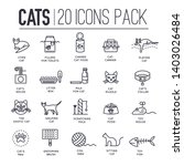 set of thin line icons about... | Shutterstock .eps vector #1403026484