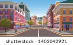 Street Of Town Vector  City...
