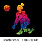 woman volleyball player action... | Shutterstock .eps vector #1403049131