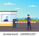 security guard protect toll...   Shutterstock .eps vector #1403051207
