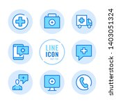 medical help vector line icons... | Shutterstock .eps vector #1403051324