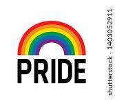 pride month rainbow flag symbol.... | Shutterstock .eps vector #1403052911