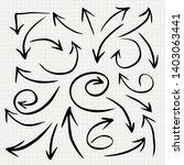 doodle arrow set   vector...   Shutterstock .eps vector #1403063441