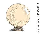 magic ball sketch. ink hand... | Shutterstock .eps vector #1403069117
