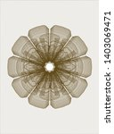 brown rosette or money style... | Shutterstock .eps vector #1403069471
