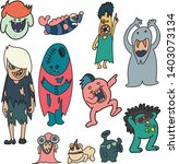 11 monsters  themes standing in ... | Shutterstock .eps vector #1403073134
