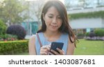 Woman Use Of Smart Phone And...