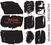paint strokes with a dry brush... | Shutterstock .eps vector #1403118764
