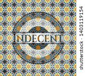 indecent arabic badge.... | Shutterstock .eps vector #1403119154