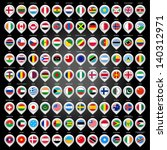 108 map marker with flags.... | Shutterstock .eps vector #140312971