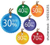 discount price colorful tags... | Shutterstock .eps vector #140313151