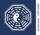 yin yang   pakua   bagua  ... | Shutterstock .eps vector #140313469